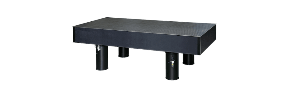 Newport Optical table with individual legs and pneumatic isolators